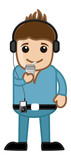 Stylish Young Boy Listening Music - Business Cartoons