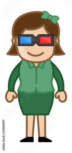3d Glasses - Virtual Reality Concept - Business Cartoons
