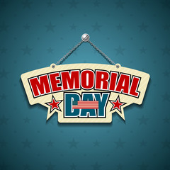 Memorial Day American signs star background