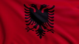 Flag of Albania looping