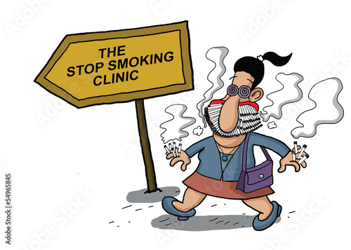 Woman goes to a smoking clinic