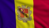 Flag of Andorra looping