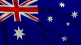 Flag of Australia looping