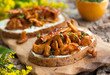 Chanterelle Sandwiches