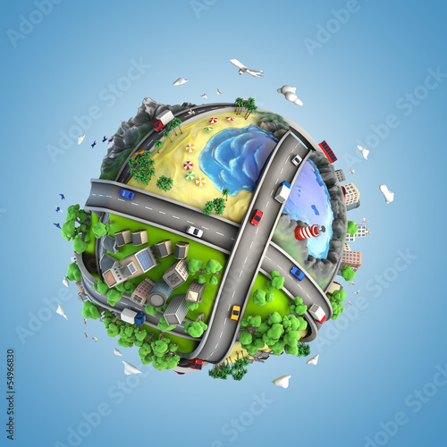 globe concept of the world and life styles
