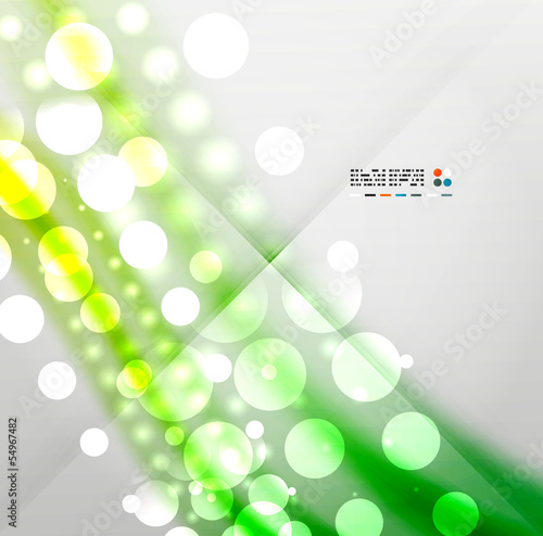Blurred waves and lights modern background