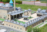 Mevlana Tomb in Konya model and tourists poster