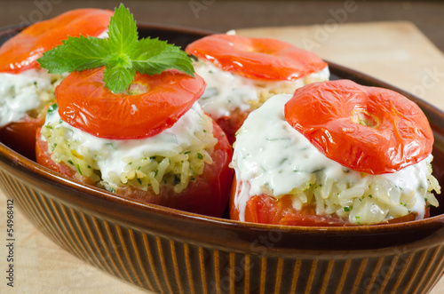 Oven tomato stuffed with mince meat