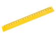 Leinwandbild Motiv yellow plastic ruler
