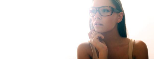 sexy Model mit Brille