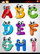 funny letters alphabet cartoon illustration