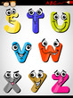 comic letters alphabet cartoon illustration