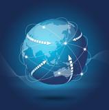 Fototapety ネットワーク・世界経済
