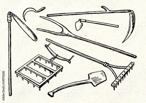 Ancient agricultural tools