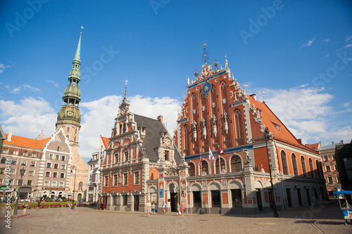 St.Peter Church and House of the Blackheads. Riga, Latvia