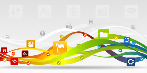 Web mobile applications vector abstract background
