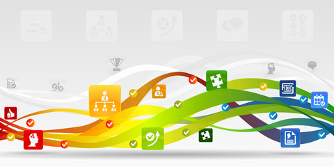 Business strategy mobile applications vector abstract background