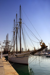 sailing ship Port