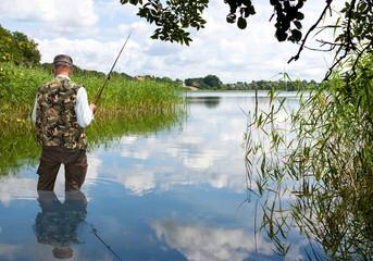 Angler am Schaalsee