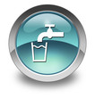 "Light Blue Glossy Pictogram ""Running Water"""