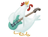 gallina con guitarra