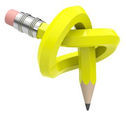 Der verschlungene Bleistift