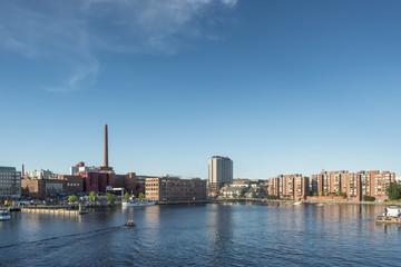 Tampere, skyline, Finlandia