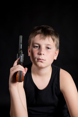 teenager with a gun