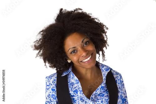 Lachende Afroamerikanerin
