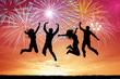 People celebrate the new Year