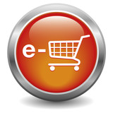 e-shop icon. red