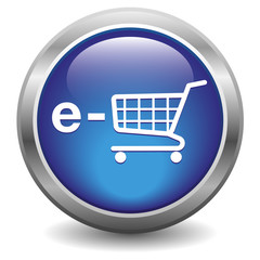 e-shop icon. Blue
