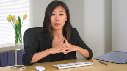 Asian businesswoman explaining concepts to business partners