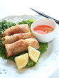 vietnamese food, gourmet spring roll with vinegar sauce