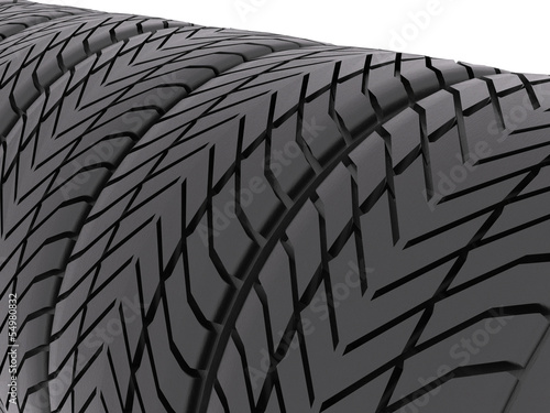 Tires closeup