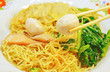 wheat noodles with vegetables and meat