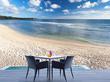 terrasse détente avec vue sur mer aux Seychelles