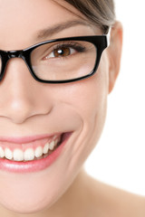 Glasses eyewear woman portrait close up
