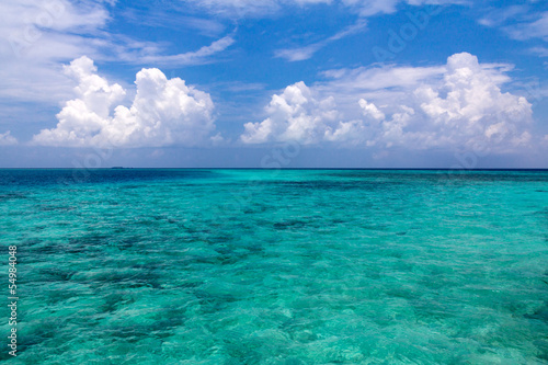 Seascape of Maldives