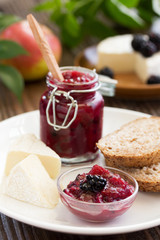 Chutney of apples and blackberries.