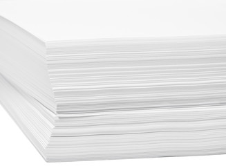 stack of white paper for print or text