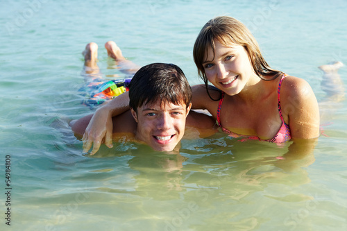 Teenagers in water