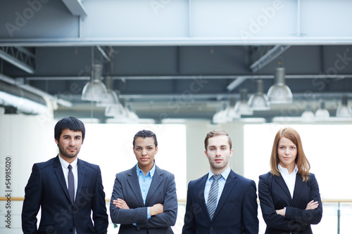 Multi-ethnic business team