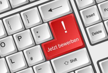 Tastatur rot  - jetzt bewerben