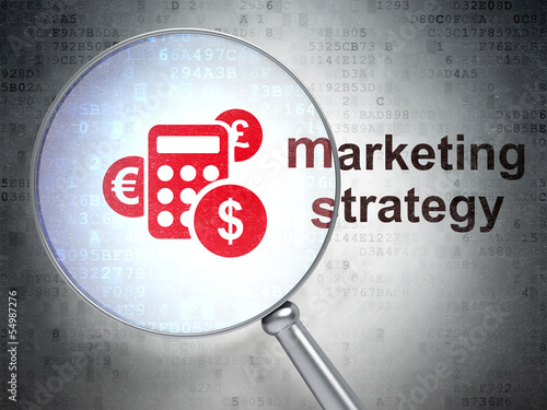 Marketing concept: Calculator and Marketing Strategy with optica