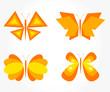 Butterfly orange - set