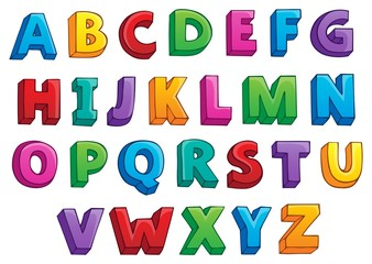 Image with alphabet theme 1
