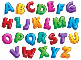 Image with alphabet theme 2