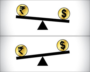 Forex Trading between currencies - US Dollar and Indian Rupee