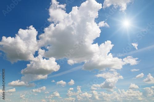 Fototapeta sun on blue sky